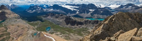 The view from Cirque Peak, Banff National Park.
