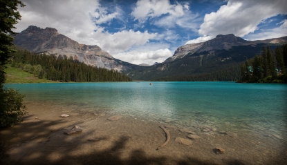 Emerald Lake, Yoho National Park. Gorgeous colour on a fine summer day.